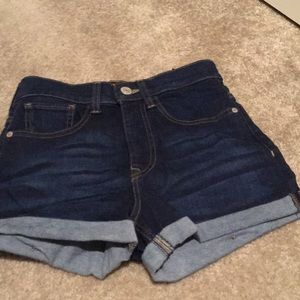 NEW High rise denim cuffed shorts from EXPRESS